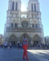 "1st day of Paris tour, before deciding to get on a hop-on-hop-off bus. ""Cathédrale Notre-Dame"""