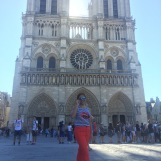"1st day of Paris tour, before deciding to get on a hop-on-hop-off bus. ""Cathédrale Notre-Dame"""