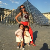 "Opted not to go inside ""The Louvre"" for lack of time"
